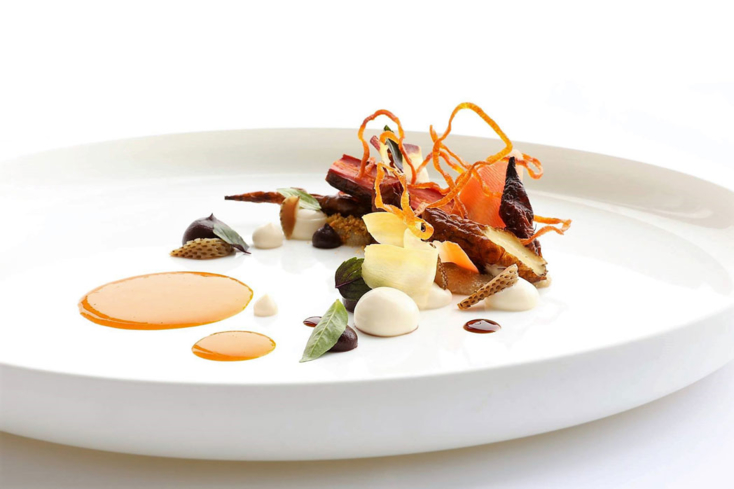 Carrot, green strawberry, hazelnut, amaranth | Chef Curtis Duffy | Chicago