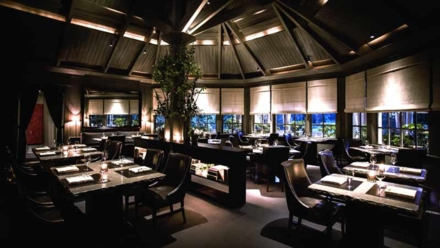 The dining room at The Restaurant at Meadowood