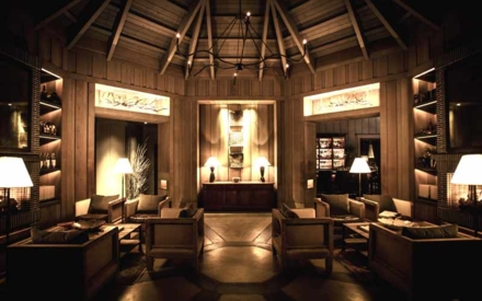 The lounge at The Restaurant at Meadowood