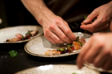Plating from The Willows Inn