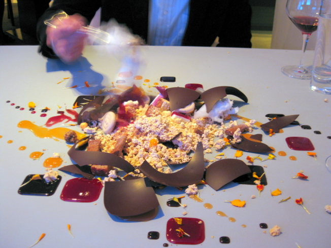Dark Chocolate at Alinea : Butternut Squash, Lingonberry and Stout