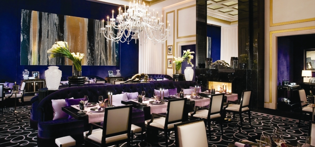 Dining room of Joel Robuchon in Las Vegas, NV