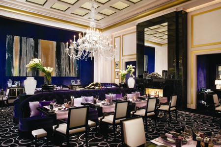 Dining room of Joel Robuchon Restaurant in Las Vegas, NV