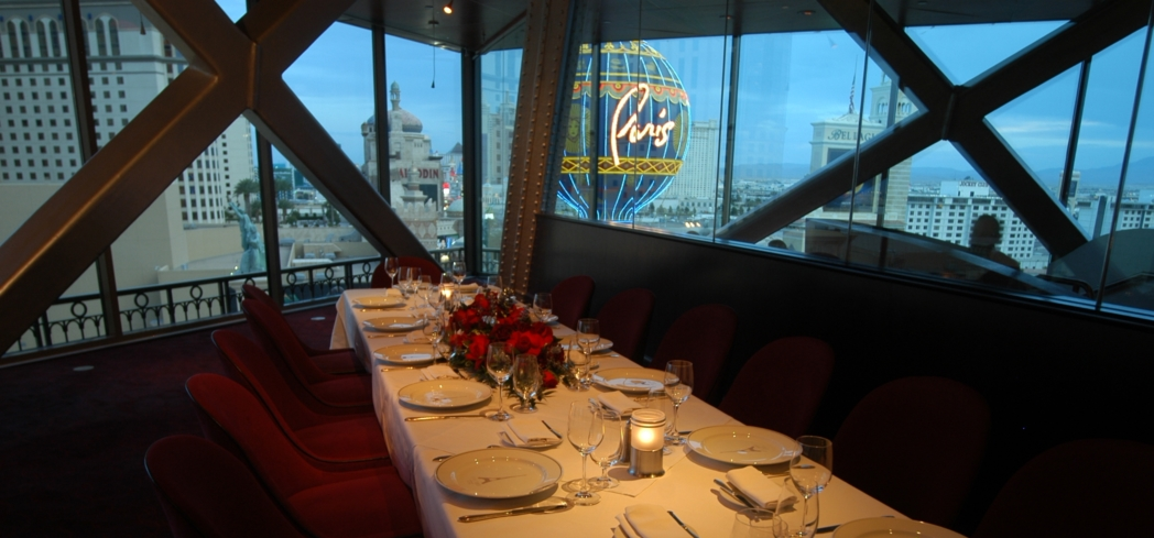 Private dining room of Eiffel Tower in Las Vegas, NV