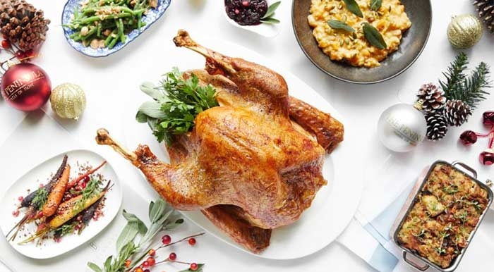 Holiday turkey dinner at The Belvedere in Beverly Hills, CA