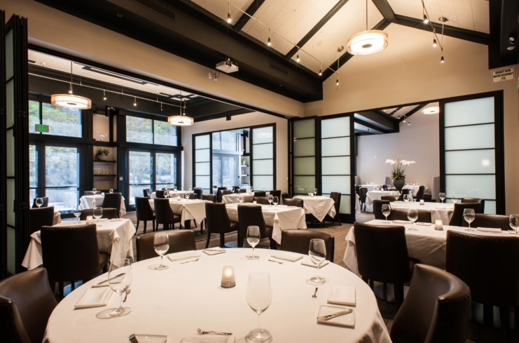 Dining room of Alexander's Steakhouse, Pasadena, CA