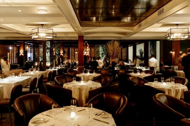 Dining room of Baltaire, Los Angeles, CA