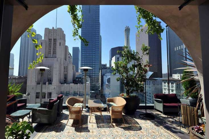 Overlooking Downtown LA from Perch, Los Angeles