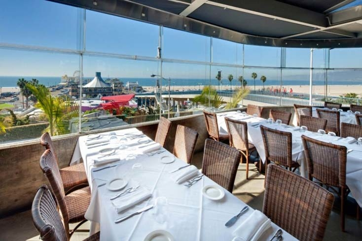 Overlooking the Santa Monica Pier at The Lobster