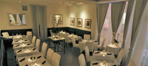 Dining room of Petrossian in West Hollywood, CA