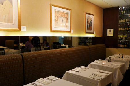 Dining room of Michalel's on Naples Ristorante in Long Beach, CA