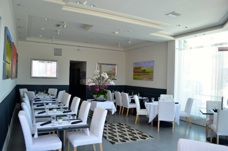 Dining room of Petrossian Boutique & Restaurant in West Hollywood, CA