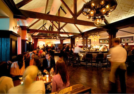 Dining room of Tavern on the Green in New York, NY