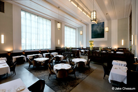 Dining room of Eleven Madison Park in New York, NY