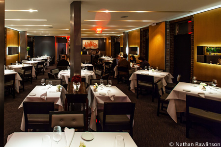 Dining room of Dovetail in New York, NY