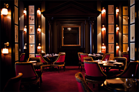 Dining room of The NoMad in New York, NY