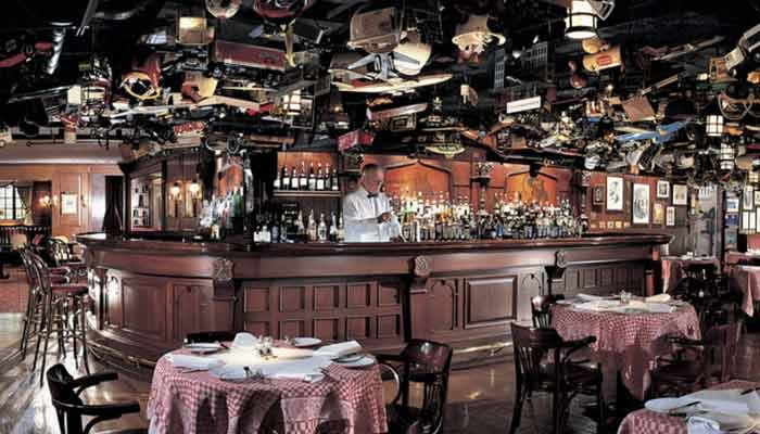 Dining room of 21 Club in New York, NY