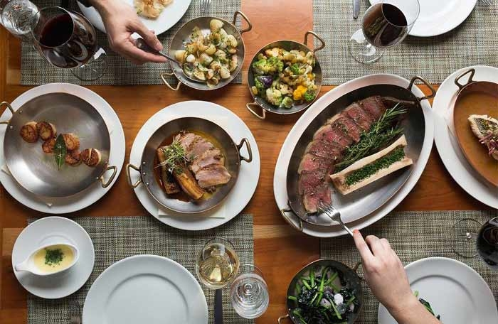 A family-style feast at Craft in New York, NY