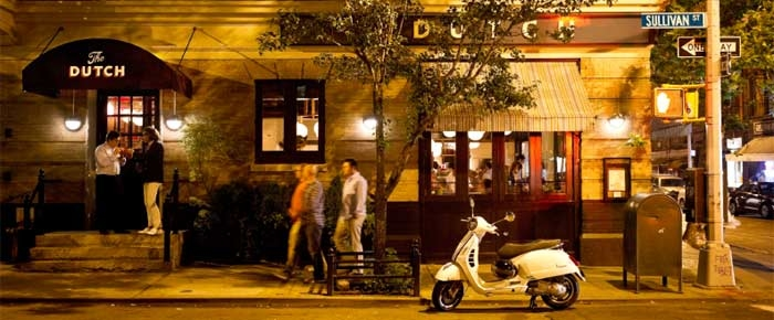 Exterior of The Dutch in New York, NY (Photo by Evan Sung)