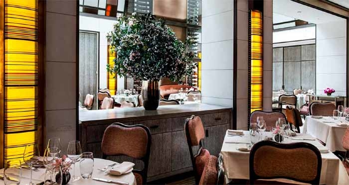 Dining room of The Mark Restaurant by Jean-Georges in New York, NY