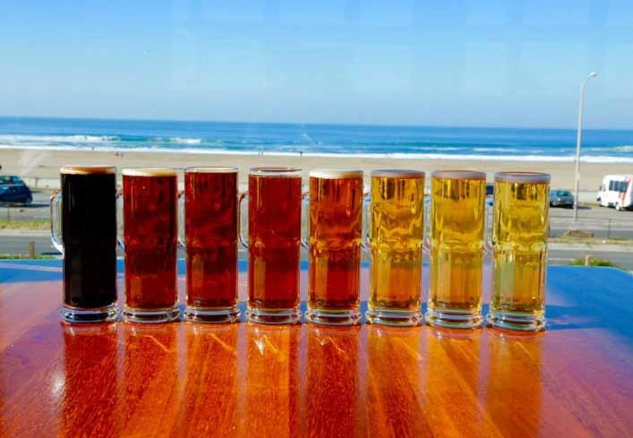 The many brews (and views) at Beach Chalet in front of Ocean Beach