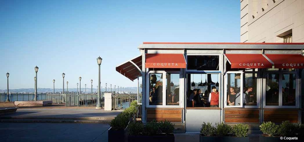 Coqueta at The Embarcadero in San Francisco offers stunning views