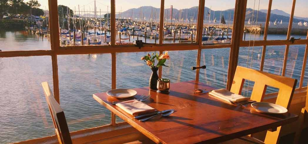 A view of the Marina from Greens Restaurant in San Francisco
