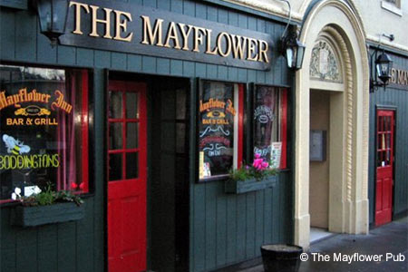 Exterior of The Mayflower Pub in San Rafael, CA