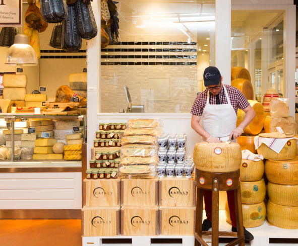 Italian cheeses at Eataly Downtown in New York (Photo credit: Pablo Enriquez)