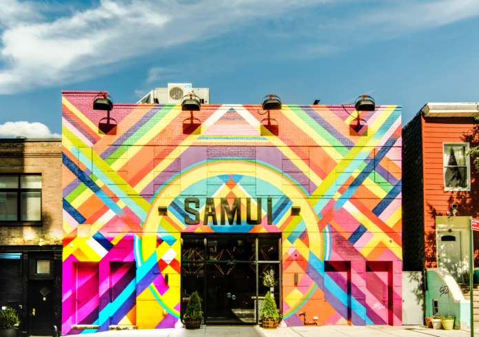 Exterior of Samui in Brooklyn