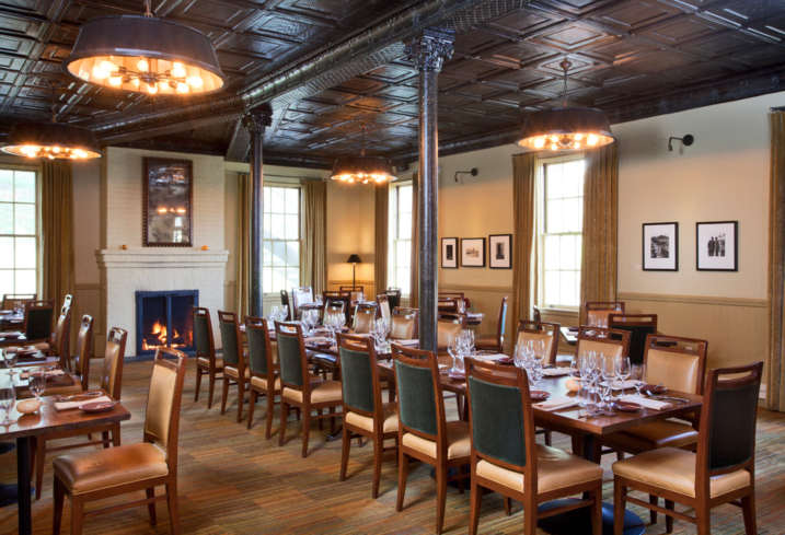 Dining room of Murray Circle in Sausalito (Photo credit: Kodiak Greenwood Photography)