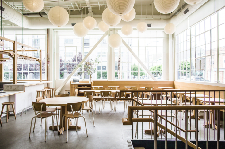 Dining area at Tartine Manufactory in San Francisco (Photo credit: Elisabetta Redaelli)