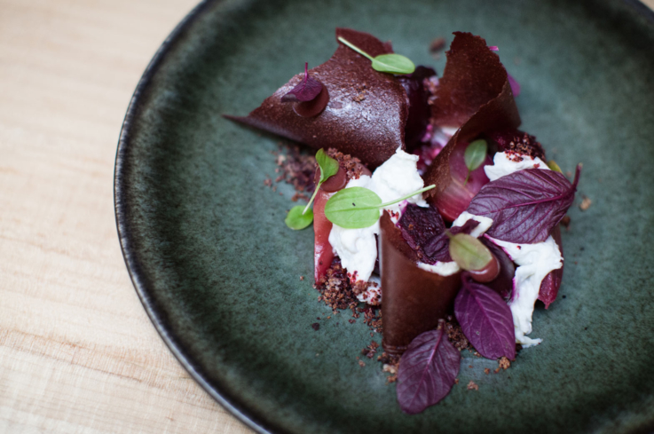 Beets and figs at Nico in San Francisco