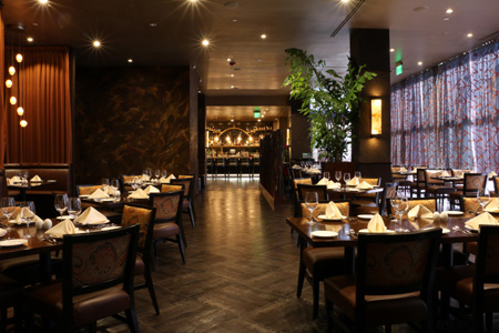Dining room of Spice Affair in Beverly Hills, CA