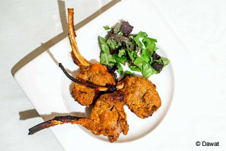 Lamb chops at Dawat in New York, NY