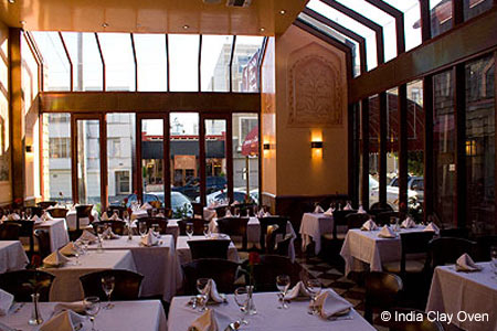 Dining room of India Clay Oven in San Francisco, CA