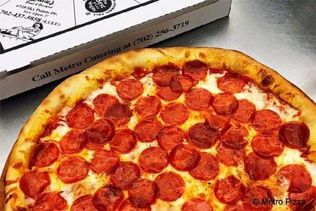 Pepperoni pizza at Metro Pizza in Las Vegas, NV