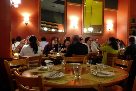 Dining room of Pizzeria Mozza in Los Angeles, CA