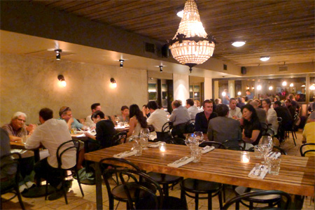 Dining room of Sotto in Los Angeles, CA
