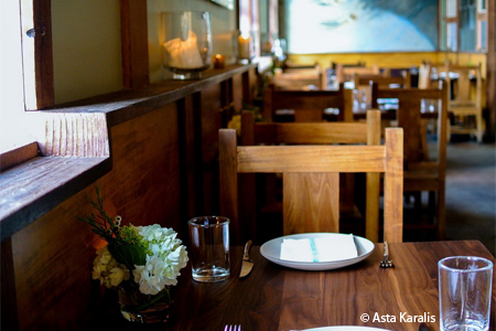 Dining room at Flour + Water in San Francisco