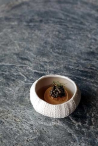 Sea urchin | Chef Dominique Crenn, Atelier Crenn, San Francisco