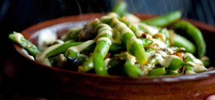 Green beans  | Chef Stephanie Izard, Girl & The Goat restaurant, Chicago