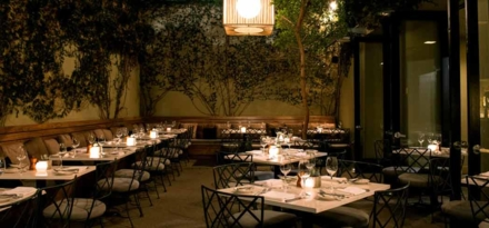 Patio | Lucques restaurant, Chef Suzanne Goin, West Hollywood, CA