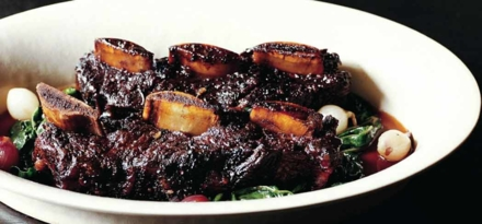 Short ribs dish | Lucques restaurant, Chef Suzanne Goin, West Hollywood, CA