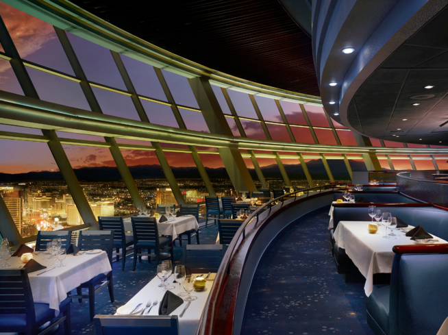 Top of The World: Dining room overlooking Las Vegas (Photo Credit: Francis & Francis Photography)