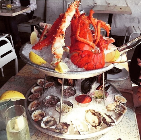 Seafood tower at Blue Plate Oysterette (Photo courtesy of Blue Plate Oysterette's Facebook)