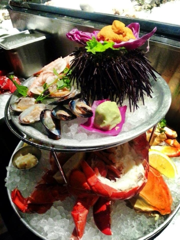 Seafood tower at EMC Seafood & Raw Bar (Photo courtesy of EMC Seafood & Raw Bar's Facebook)