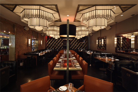 Dining room of American Cut in New York, NY