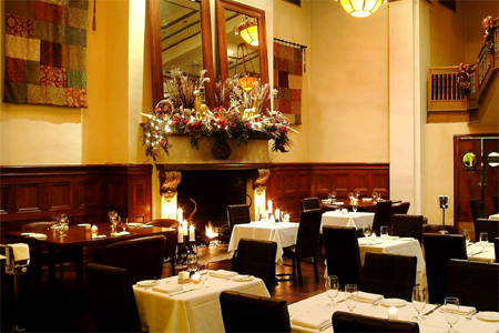 Dining room of Benjamin Steakhouse in New York, NY