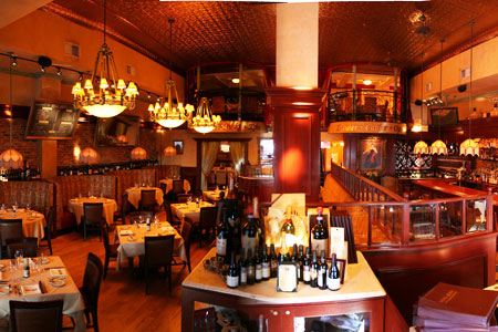 Dining room at Uncle Jack's Steakhouse in New York, NY
